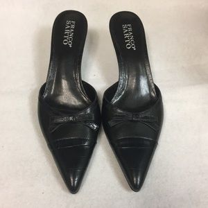 Franco Sarto black slip/mule on pointy toe 8M